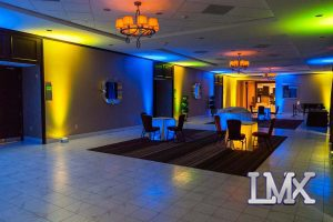 Uplighting Blue & Yellow Multicolor