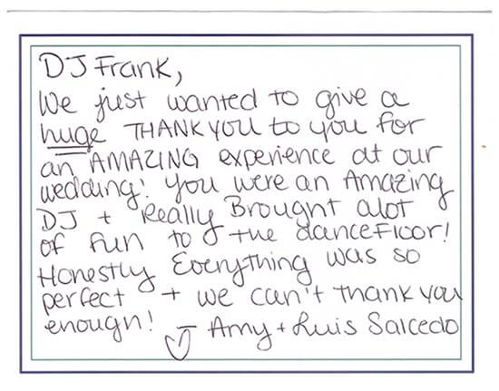 Anthony's Ocean View Wedding Thank You Card