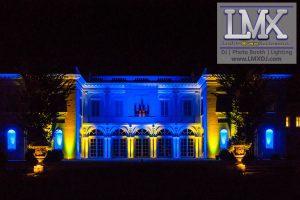 Wedding Uplighting at Wadsworth Mansion (Middletown, CT)
